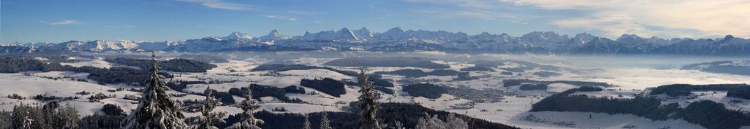 Berner Winter-Alpenpanorama