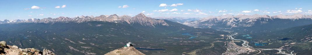 Panoramasicht Nord - Ost über Jasper