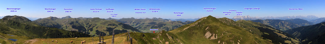 Panoramablick ab Saalbachkogel: West - Nord - Ost