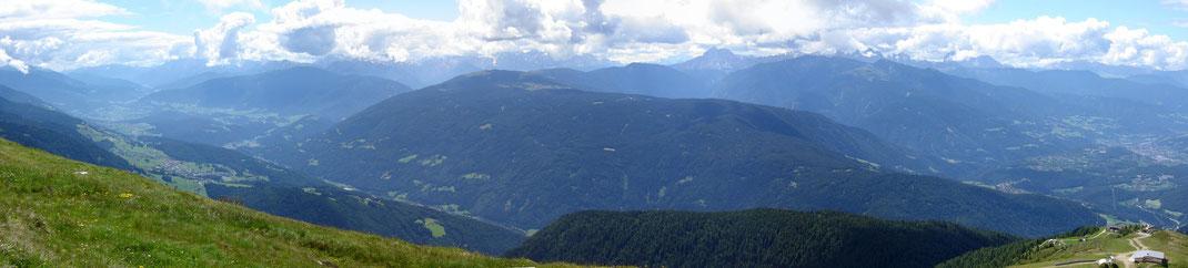 Aussicht Richtung Pustertal - Bruneck