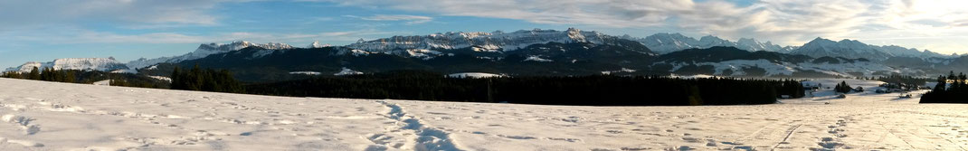 Winterpanorama Stauffenweid - Heimenschwand