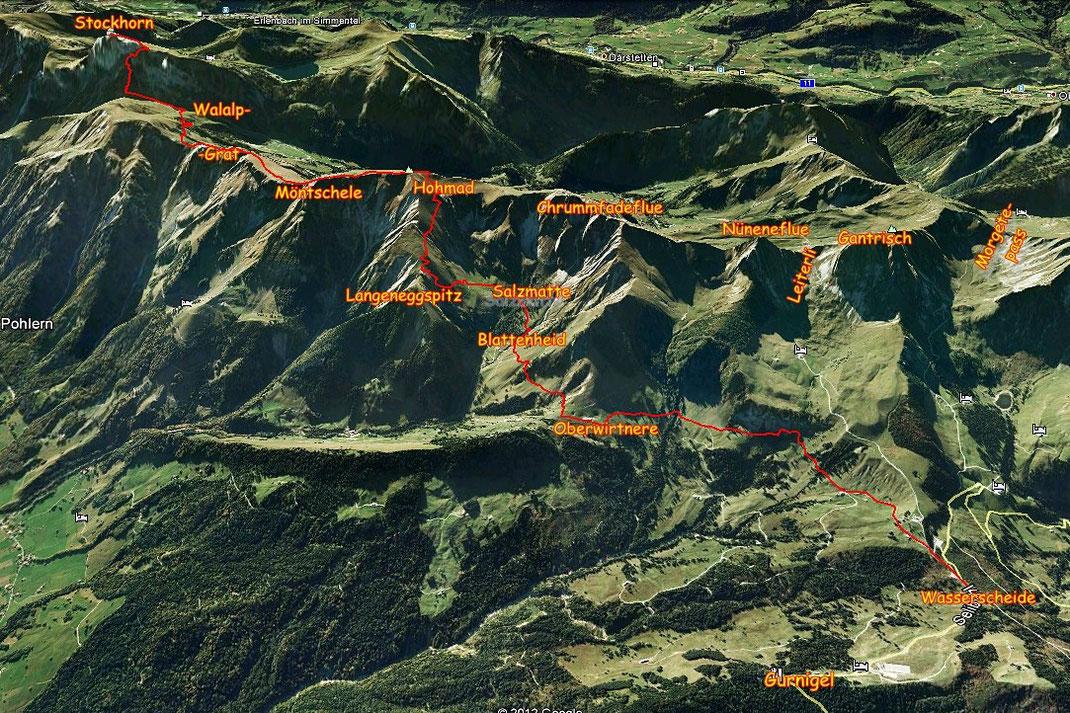 D'Übersichtscharte mit güetiger Hiuf vo Google Earth