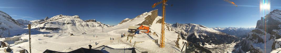 """360° Panoramabild von der Roundshot-Kamera auf dem Berghotel """"Wildstrubel"""" auf der Gemmi"""