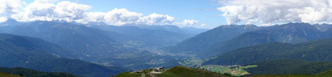 Aussicht Richtung Rodeneck - Brixen - Meransen