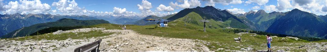 "Panorama ""Nord"" auf'm Stoanmandl - Jochtal"