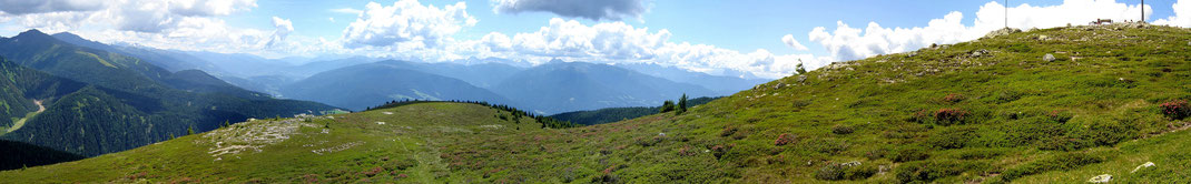 "Stoanmandl-Panorama ""Süd"" Richtung Pustertal - Grödner Dolomiten"