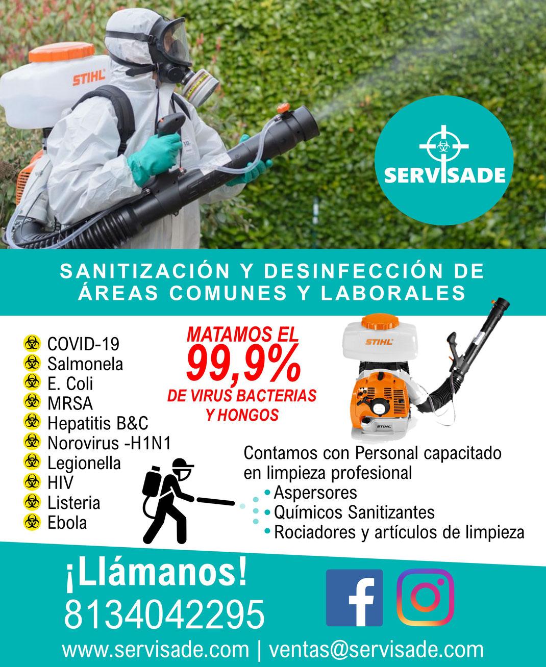 SERVICIO DE SANITIZACION Y DESINFECCION EN NUEVO LEON
