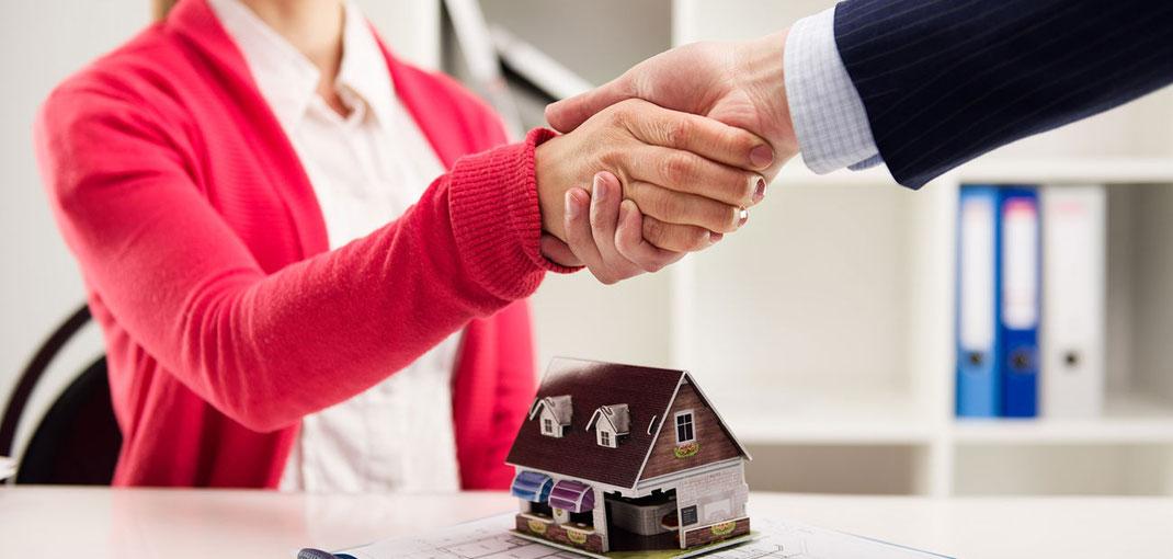 Negociación y venta de una inmueble o propiedad