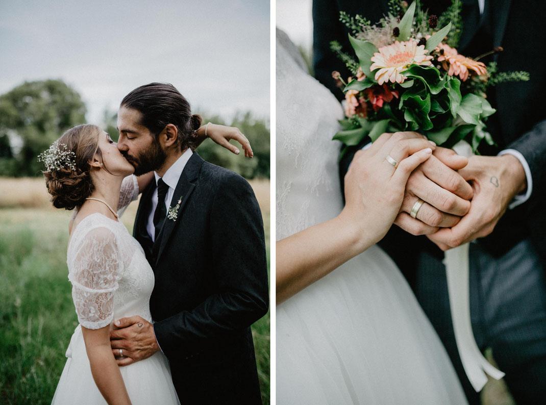 Bild: Hochzeitsfotos in Potsdam im Garten des Krongut Bornstedt