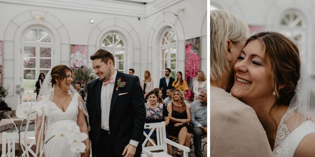 Bild: Trauung im Palmengarten Haus Rosenbrunn Frankfurt am Main Hochzeitsfotografie