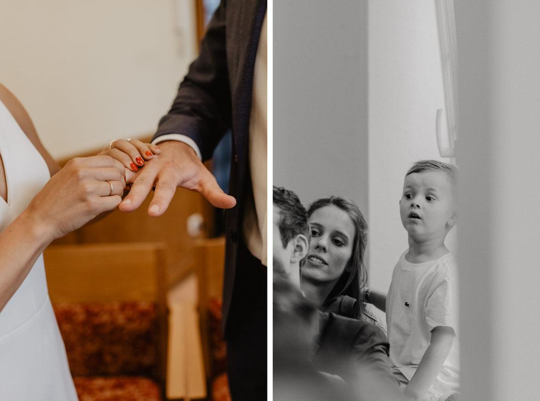 Ringtausch Trauung Standesamt Eichwalde Hochzeitsfotograf Berlin