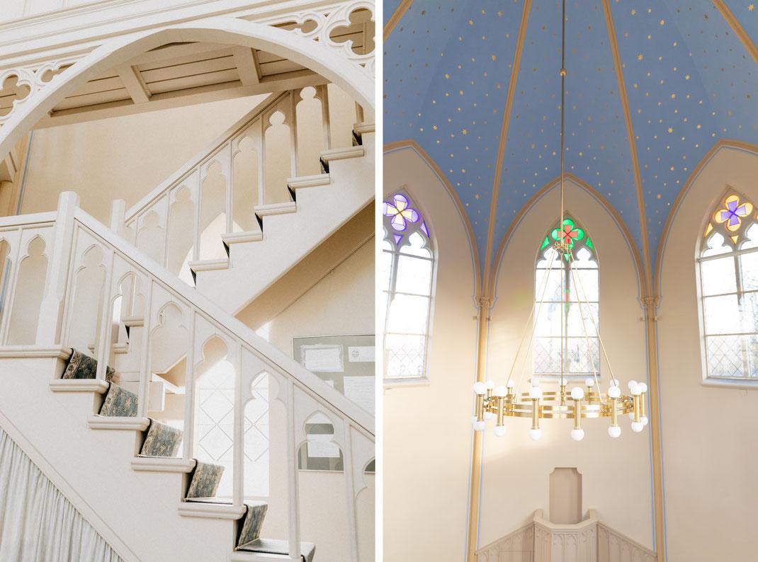 Freie Standesamtliche Trauung in der Alten Neuendorfer Kirche heiraten Potsdam Babelsberg Hochzeitslocation Hochzeitsfotograf Hochzeit