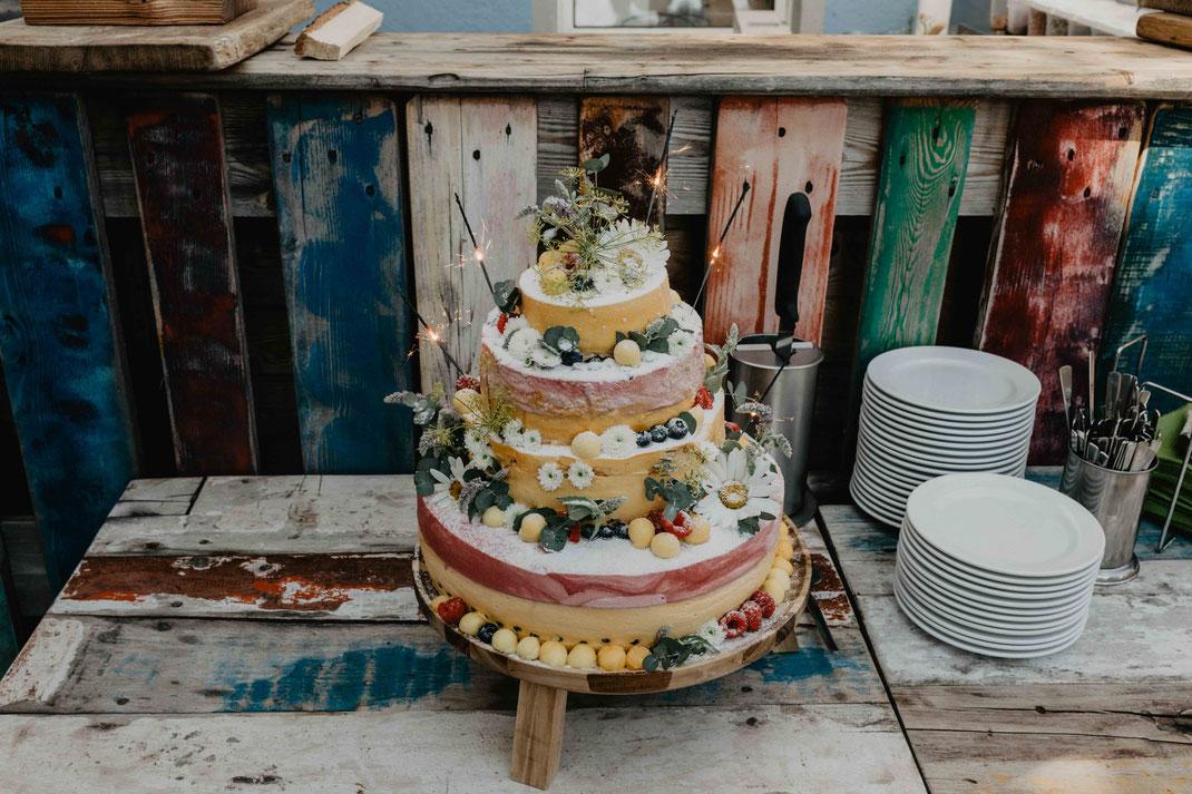Hochzeitstorte Hochzeit Hochzeitsfeier im Strandhaus Altefähr auf Rügen