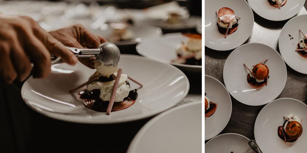 Hochzeit Dinner Abendessen Dessert Catering im Von Greifswald Berlin Erfahrungen Hochzeitsreportage Hochzeitsfotografie