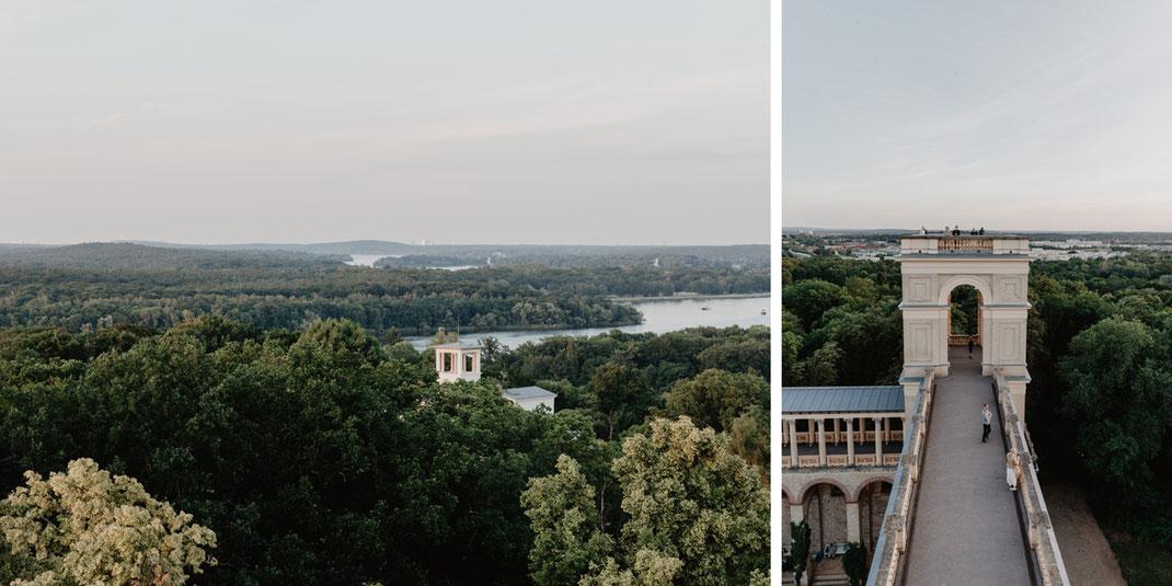 Aussicht vom Belvedere Pfingstberg Potsdam Hochzeitslocation