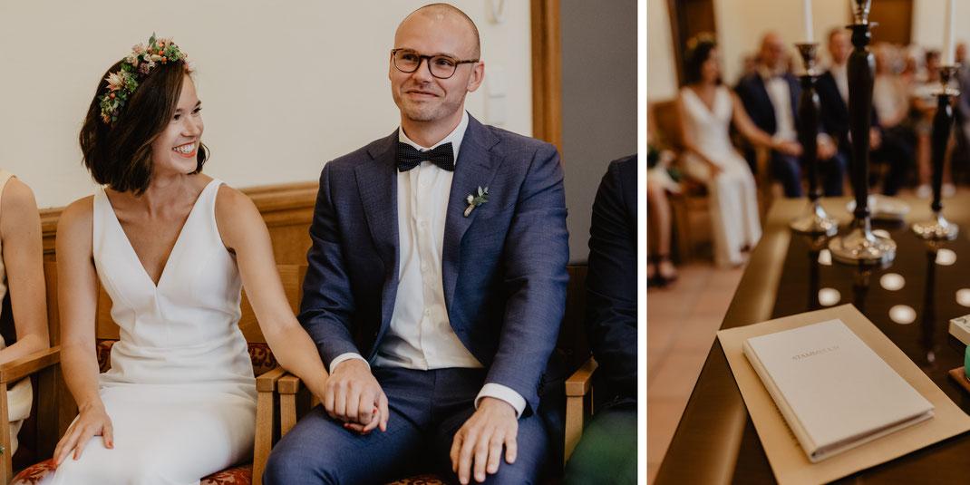 Hochzeit Trauung im Standesamt Eichwalde Hochzeitsfotograf Berlin