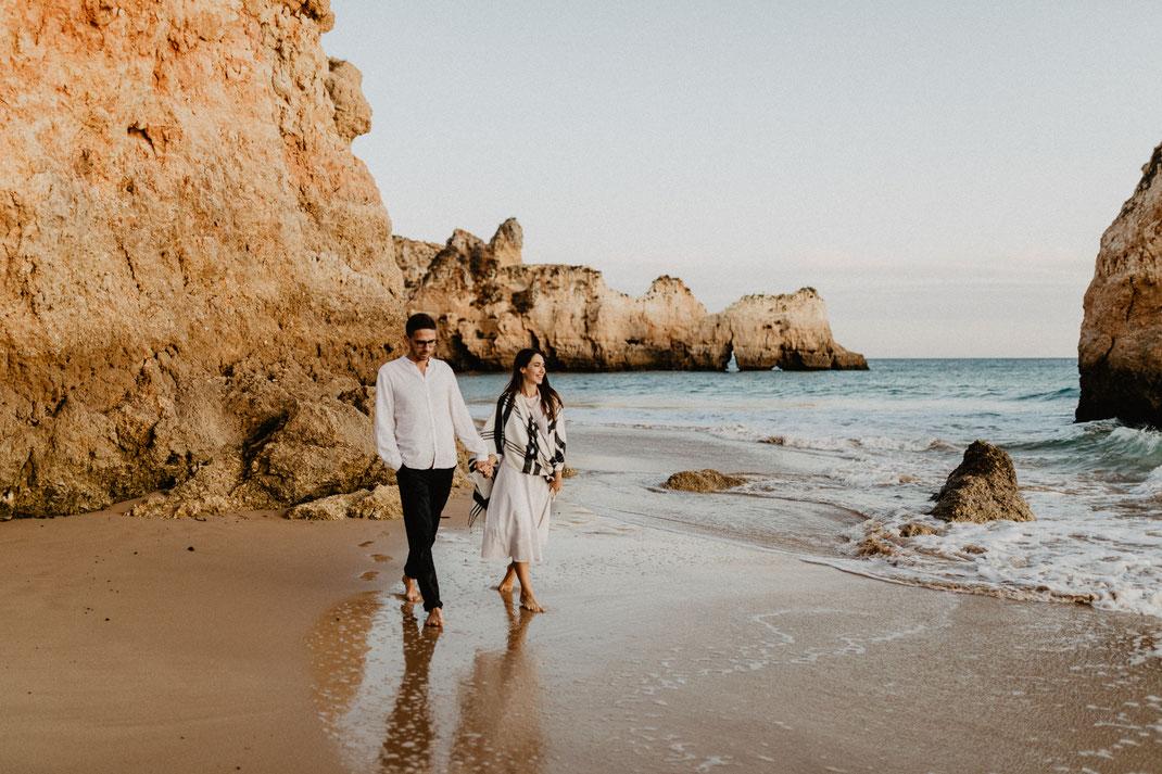 Paarshooting Verlobungsshooting Hochzeit Algarve Portugal couple photoshoot engagement shoot elopement destination wedding