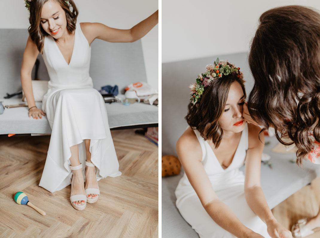 Ankleiden Getting Ready Braut Eichwalde Hochzeitsfotograf Berlin Wildau