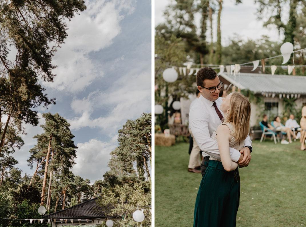 Gartenhochzeit Hochzeit feiern in Garten Hochzeitsfotograf Berlin