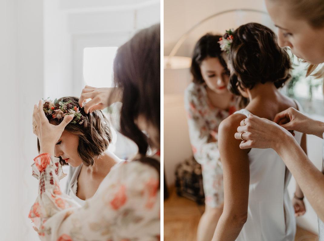 Getting Ready Brautvorbereitung Eichwalde Hochzeitsfotograf Berlin
