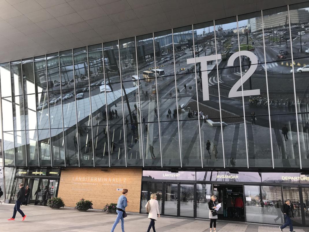 ヘルシンキ ターミナル2へ やはりデザイン重視の国