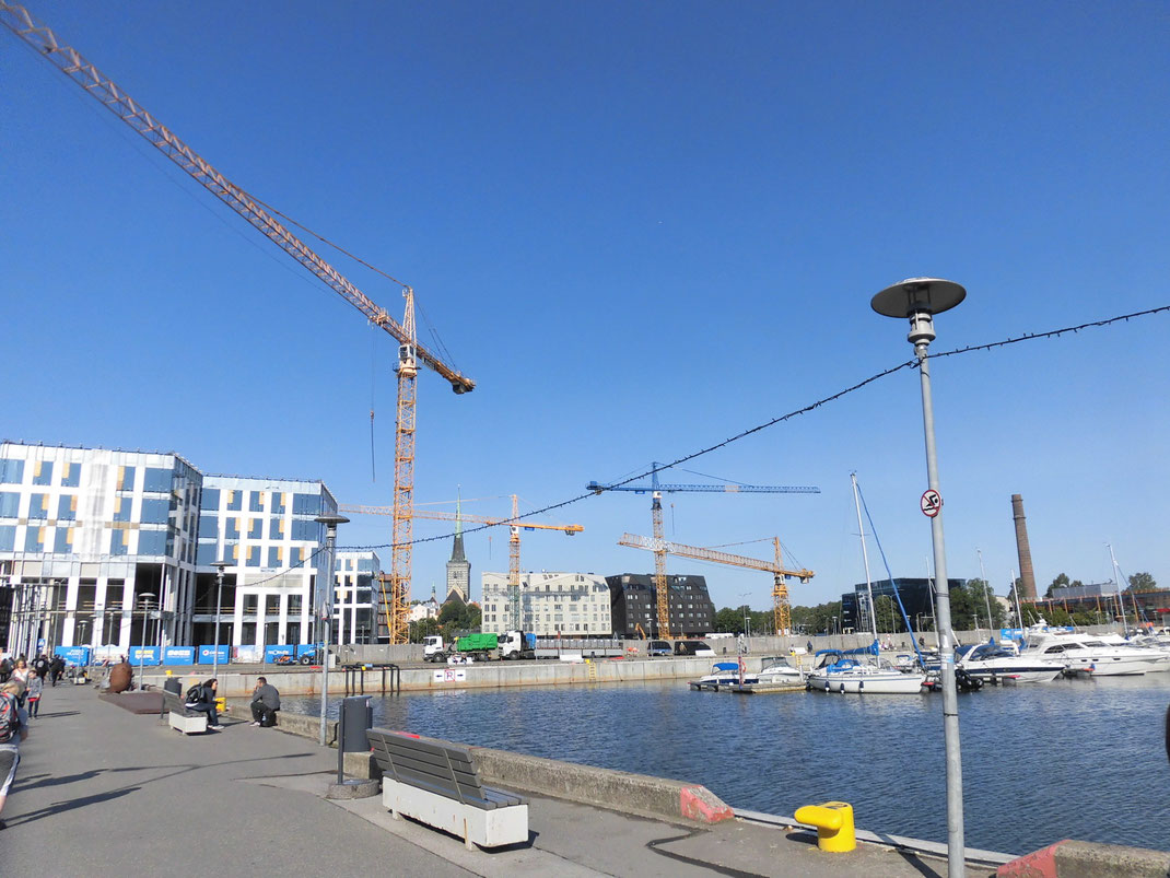 2019年8月 左側が去年1階を作ってた建物。地上5階建で未完成・・・