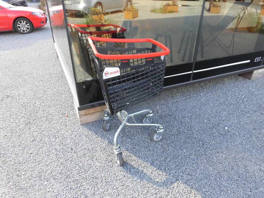 ショッピングカートのデザインも面白かった
