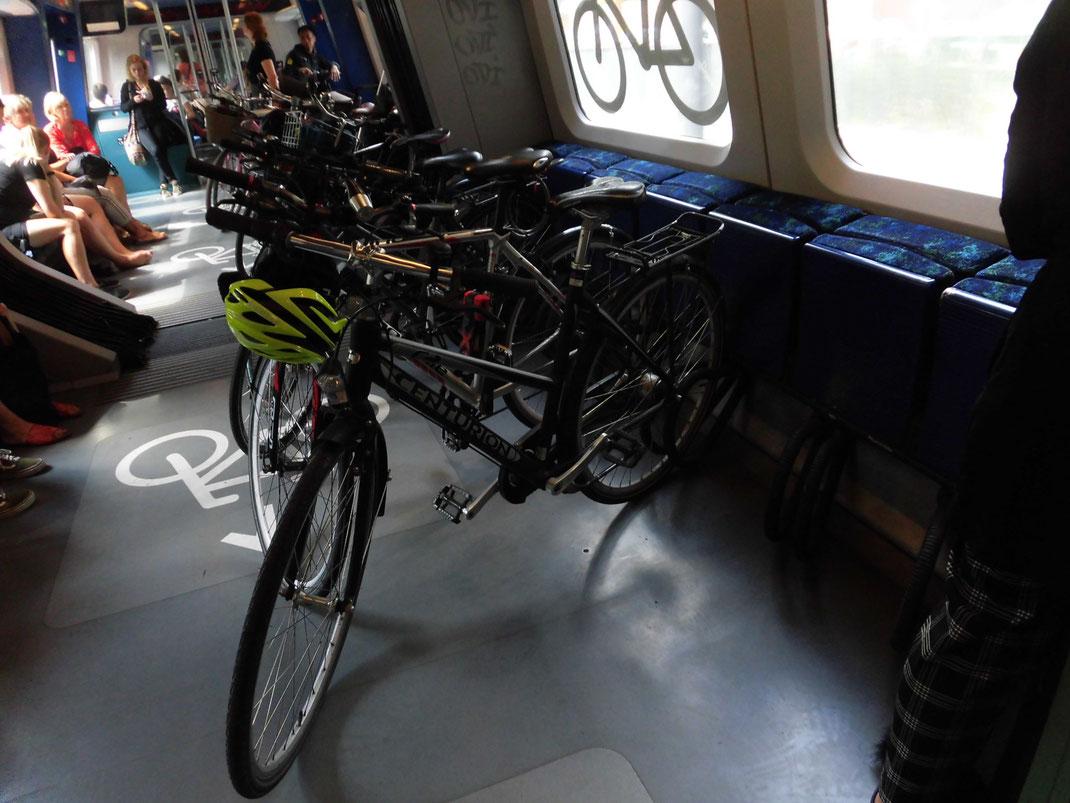 こんな感じで自転車が停められる