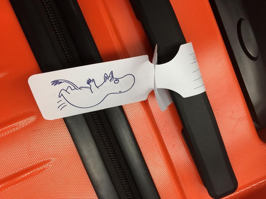 今年から変わったらしい空飛ぶムーミン バッグタグ