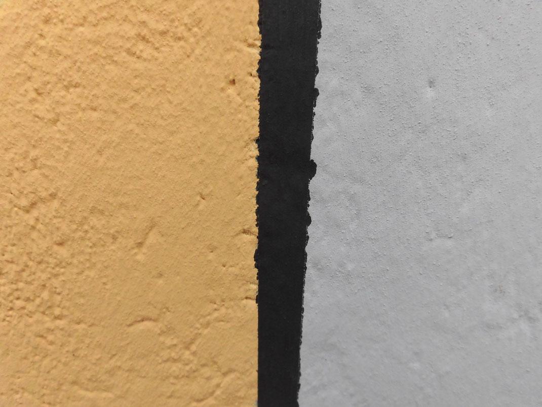 アップで見るとペンキで塗り分けている