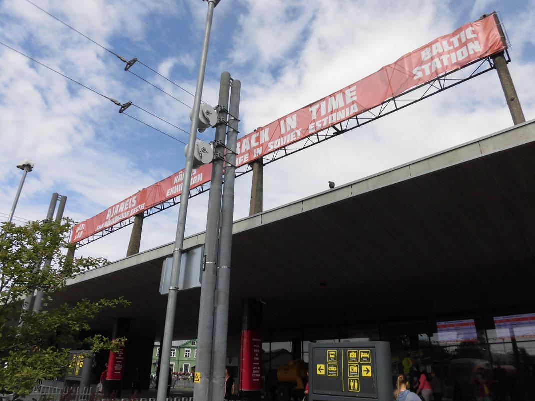 タリン中心部のバルト駅