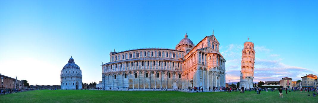Panorama at Piazza del Duomo - Pisa, Italy