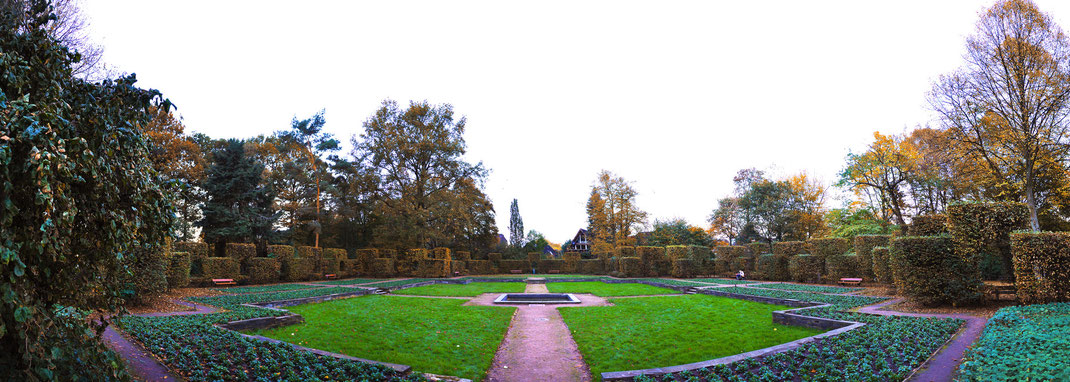 Autumn in Hammer Park garden - Hamburg, Germany