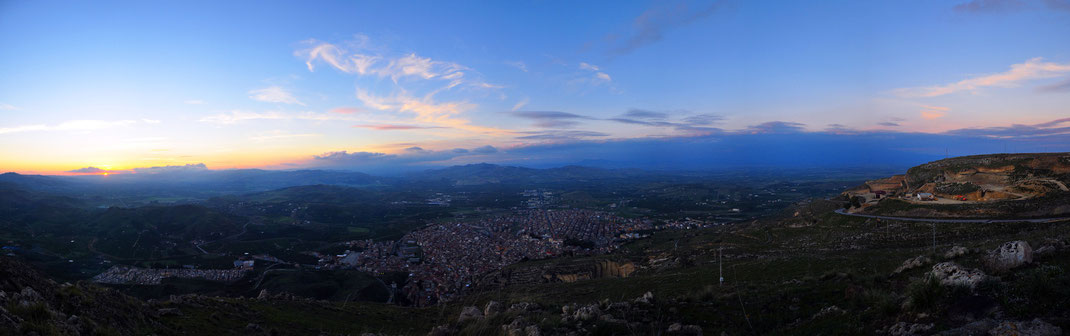 Palagonia panorama from Contrada Croce - Sicily, Italy