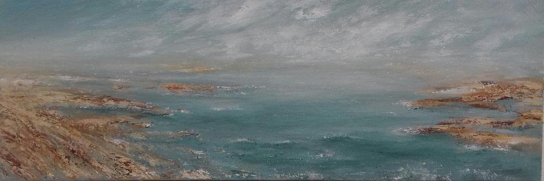 Weiter Horizont | Acrylmischtechnik | 30cm x 90cm    verkauft