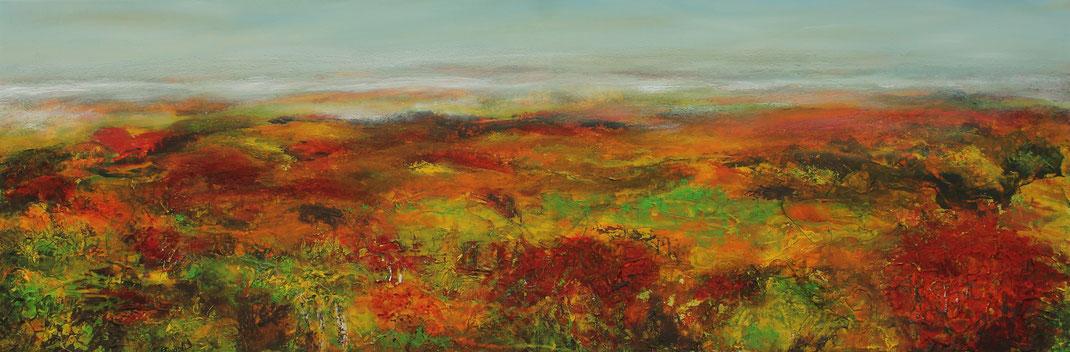 Herbstlandschaft | Acrylmischtechnik | 40cm x 120cm