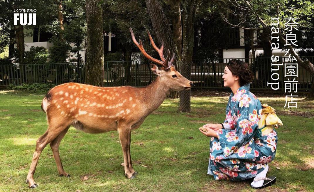 奈良公園 着物レンタル 振袖プラン