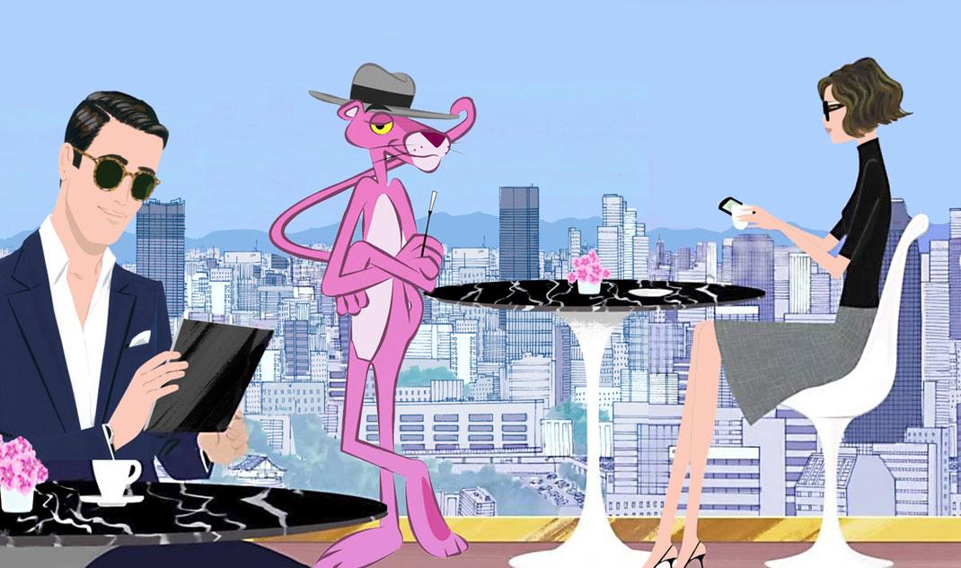 La Pantera Rosa fa un elegant cameo a la campanya de Louis Vuitton dissenyada per Jordi Labanda