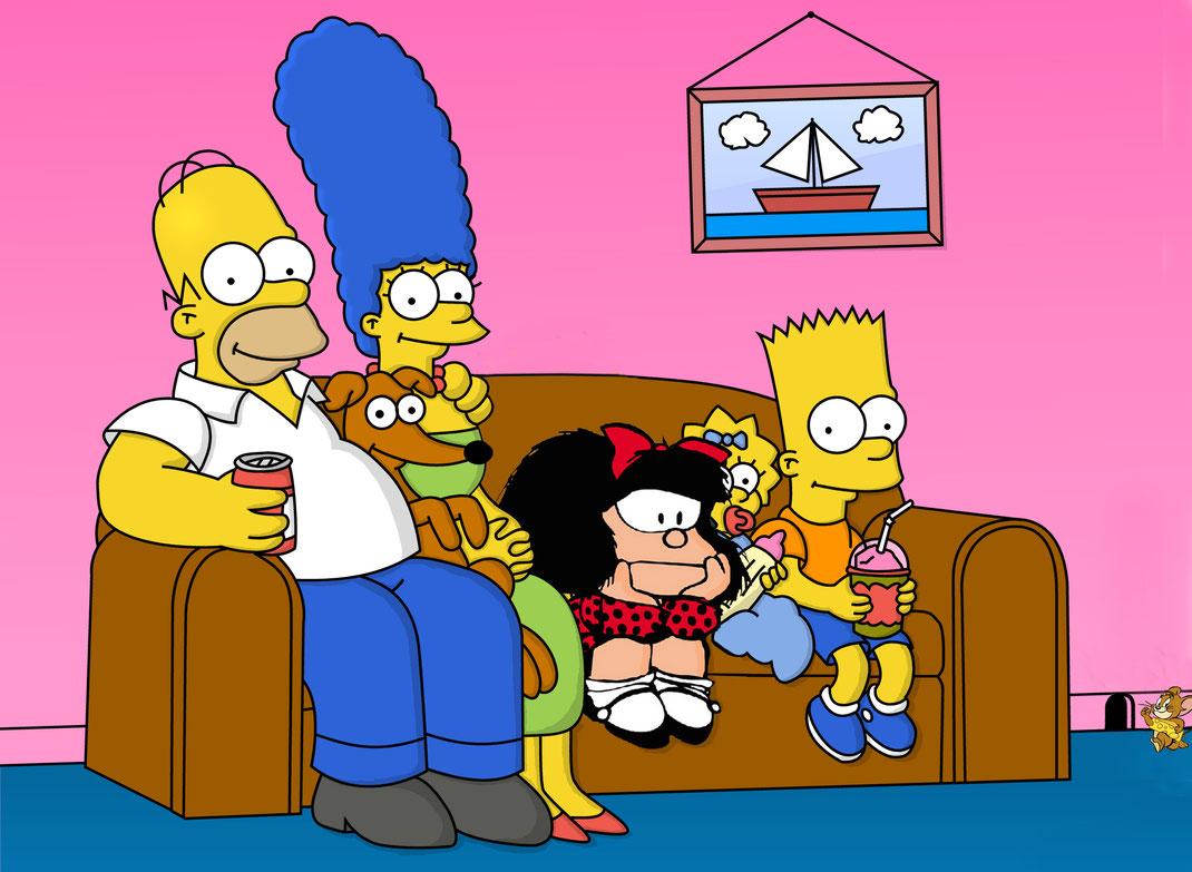 Mafalda, convidada d´honor a cals Simpson, Springsteen
