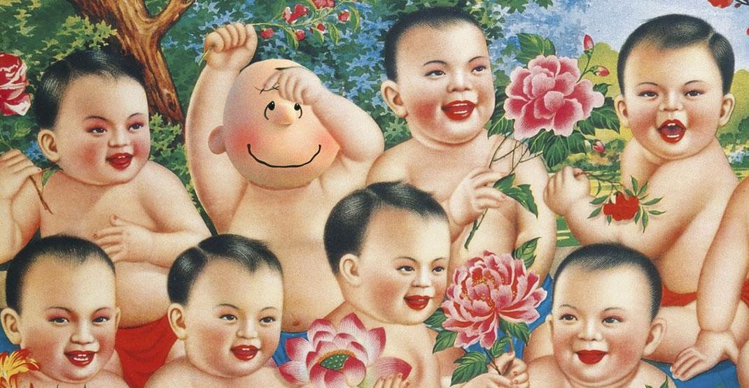 Mao Zedong contracta Charly Brown per la seva campanya de natalitat (1949)