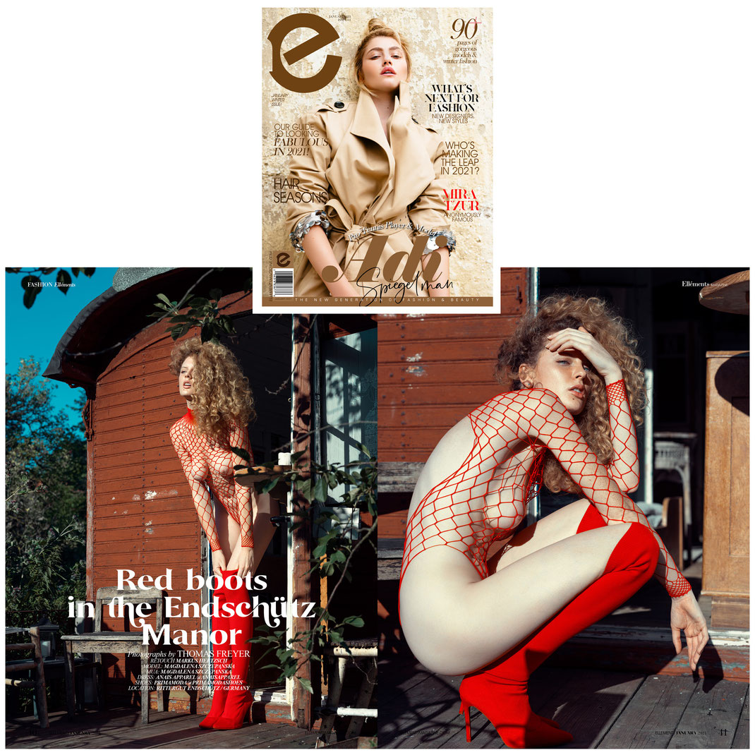 Elléments Magazine - Winter Issue 01 2021  - Markus Hertzsch - Girl - Res - Magazine - Nude - Boots - Look