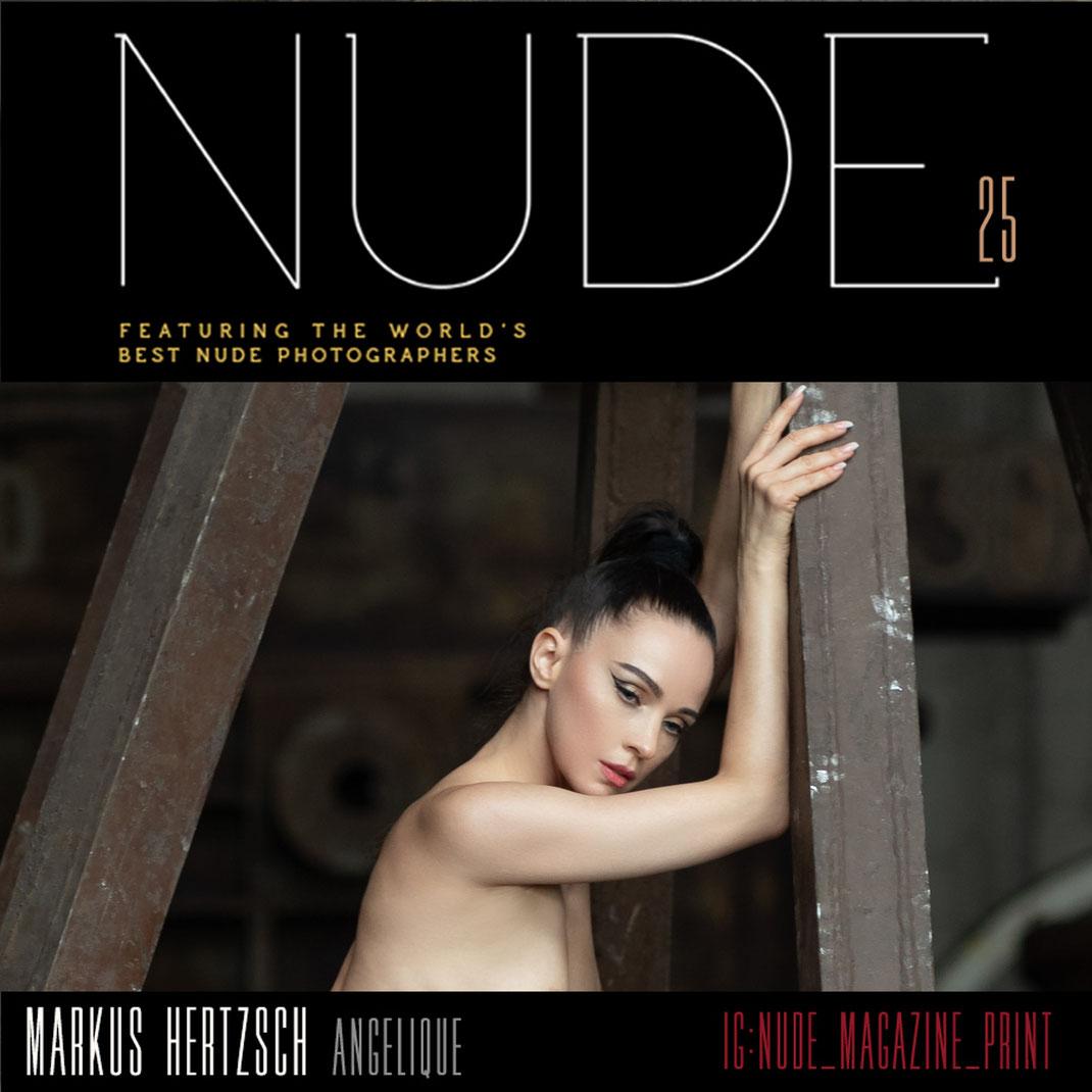Nude Magazin 25 - Lifestyle Issue - 09 2021 - Markus Hertzsch - Girl - Model - Steel - B&W - Nude - Fashion - Factory