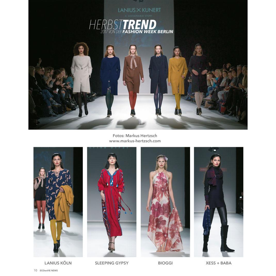 ECOenVIE Fashionweek News