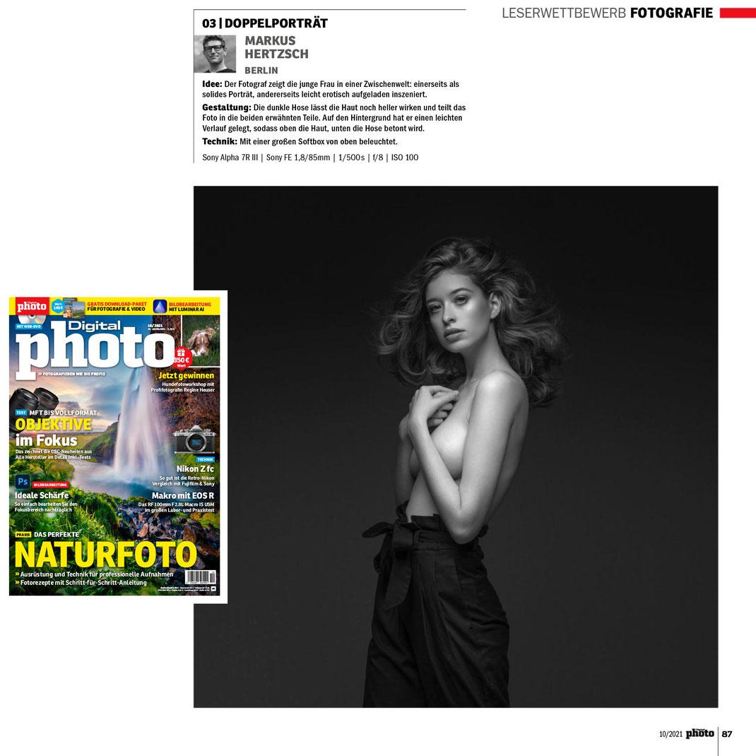 Digital Photo 10 2021 - Markus Hertzsch - Girl - Model - Wettbewerb - Fashion - Portrait - Pose - Darl - Hair - Mood