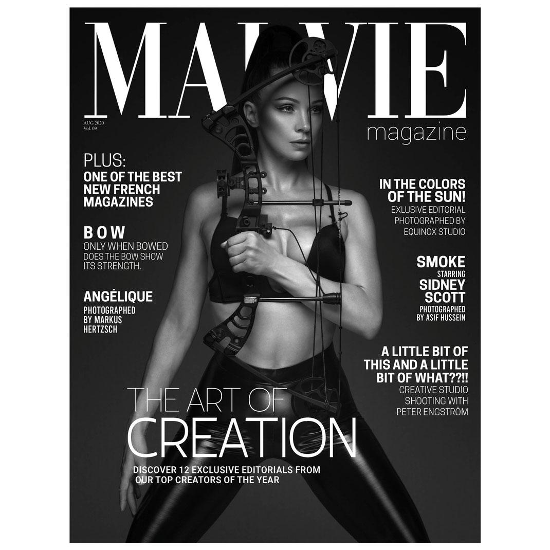 MALVIE Mag - Vol. 09 August 2020  - Markus Hertzsch - Bow - Model - Archery - Compound - Girl - Pose