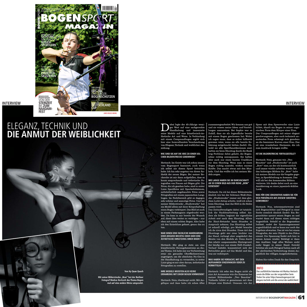 Bogensportmagazin 10 2020 - Markus Hertzsch - Interview - Archery - Bow - Arrow - Hunting - Compound - Recurve - Sports - Girl