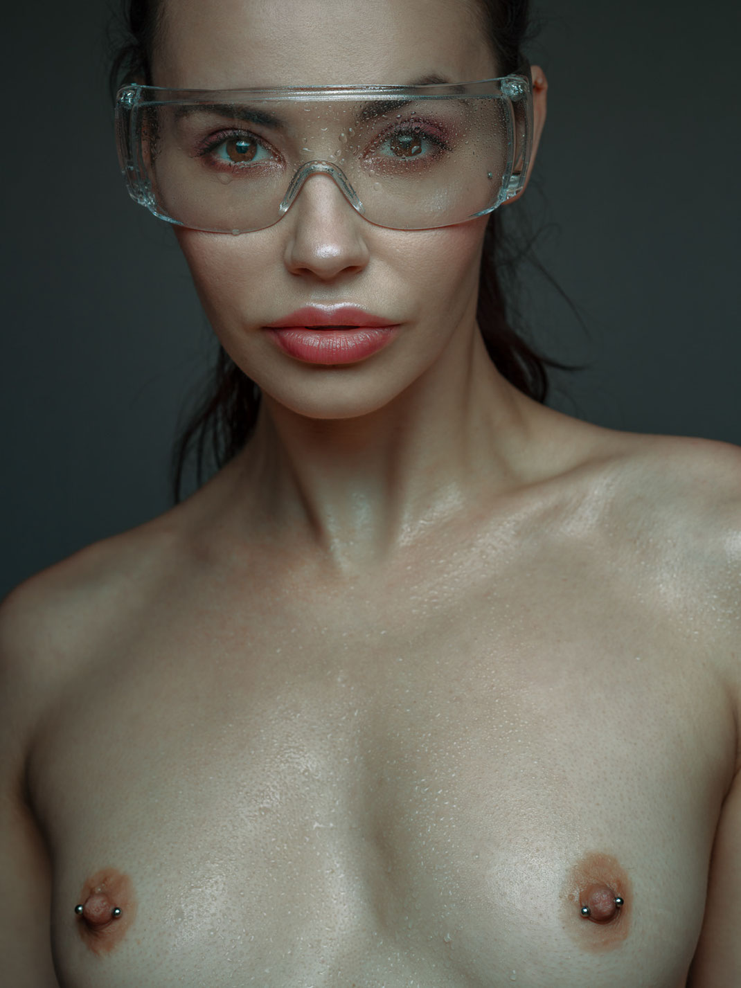 Dripping - Eliska - Markus Hertzsch - Model - Girl - Portrait - Water - Drop - Face - Dripping - Body - Nude