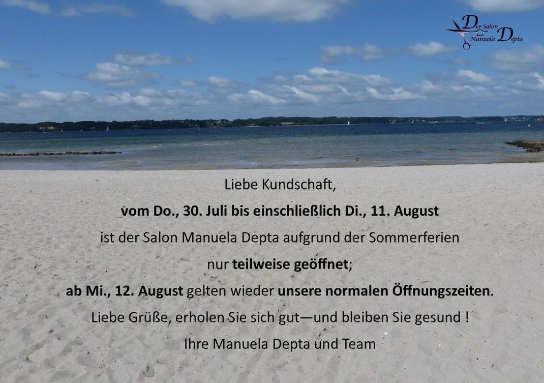 Sommerurlaub Der Salon Manuela Depta 2020