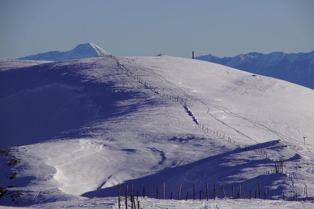 Blick vom Hofalpeneck zum Hochpalfennock. Ob es sich hier nicht einst um einen Lesefehler handelte und der Berg eigentlich Hofalpennock hieß?)