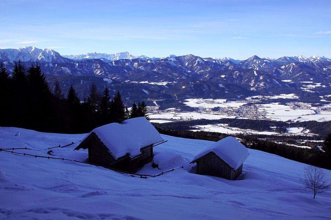 Talblick von den Hütten in 1500m